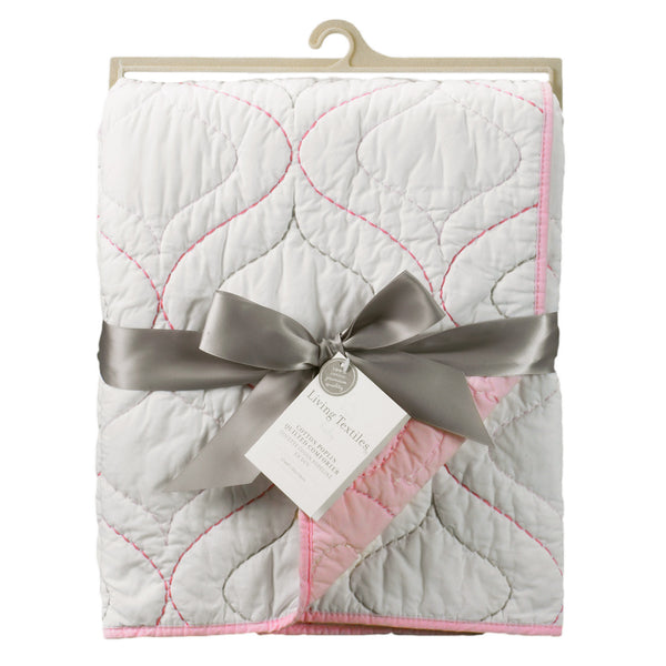 Cotton Poplin Comforter - White/Pink - Living Textiles Co.