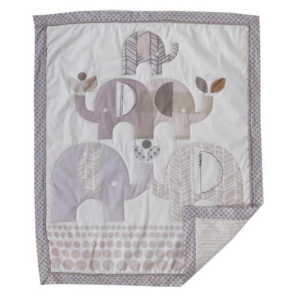 Baby Quilt - Elephants - Living Textiles Co.