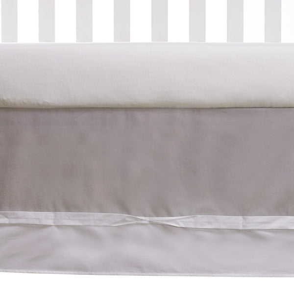 Ribbon Bed Skirt - Grey - Living Textiles Co.