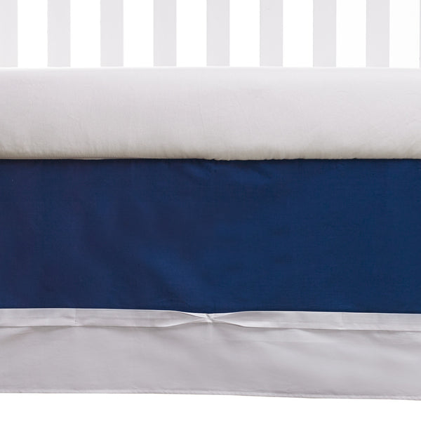 Ribbon Bed Skirt - Navy - Living Textiles Co.