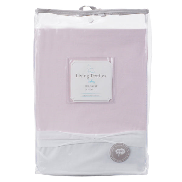 Ribbon Bed Skirt - Pink - Living Textiles Co.