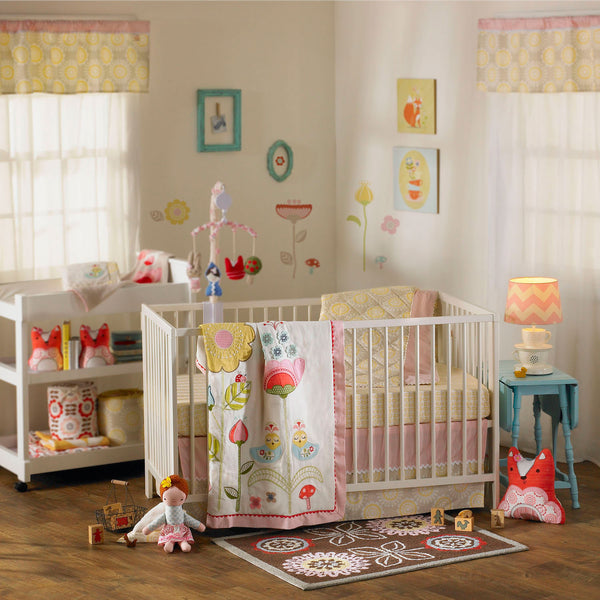 4-piece Crib Set - Scarlet - Living Textiles Co.