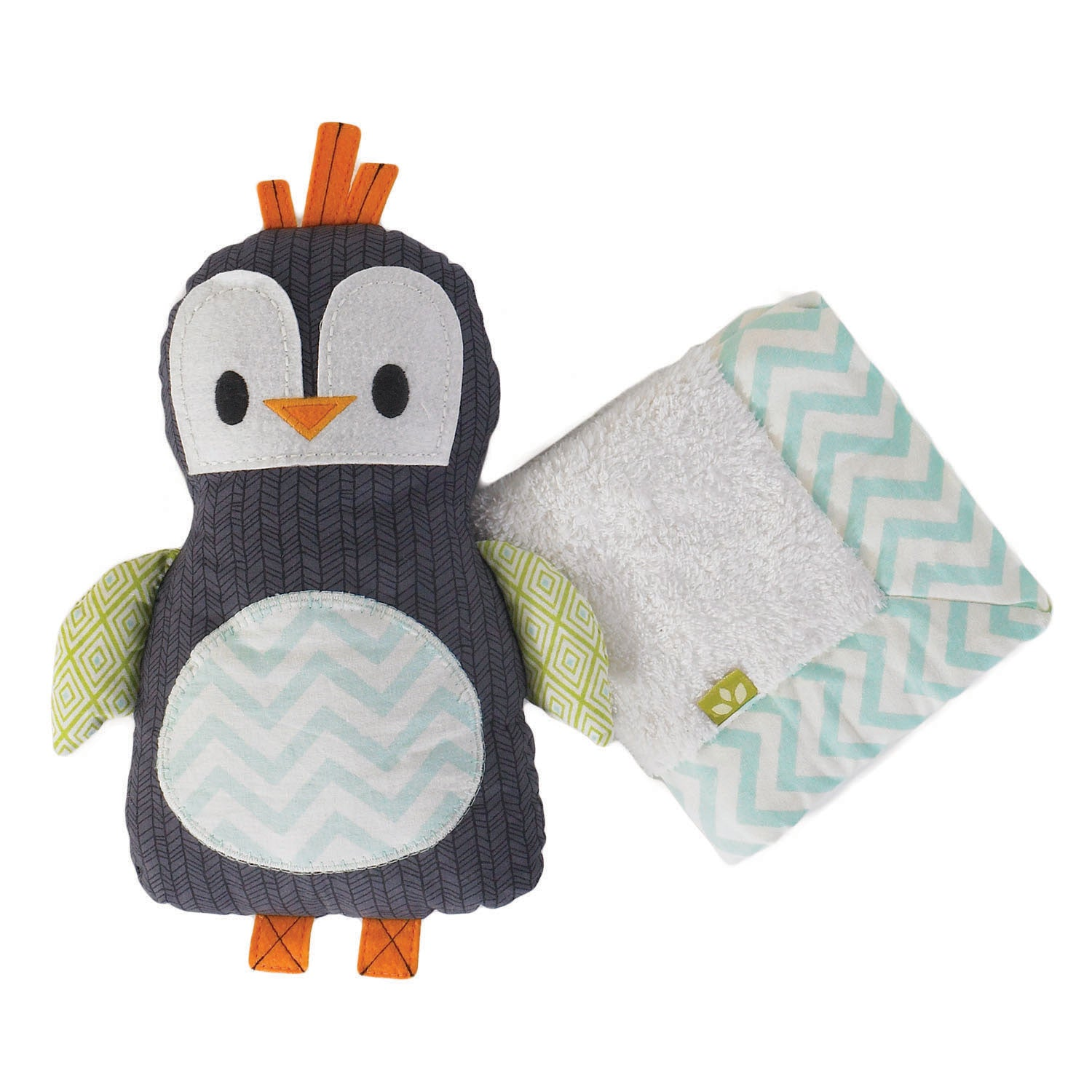 Toy & Blankie Set - Phin Penguin - Living Textiles Co.