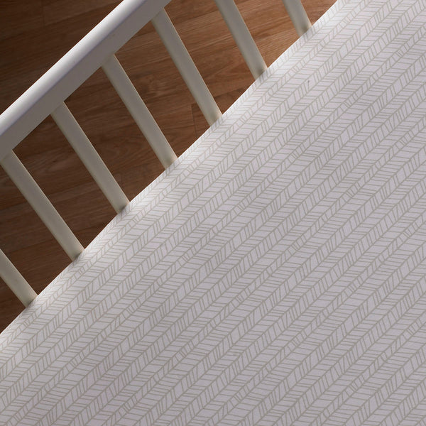 Fitted Sheet - Tan Herring - Living Textiles Co.