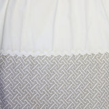 Dust Ruffle - Tan Labryrinth/Ivory Twill - Living Textiles Co.
