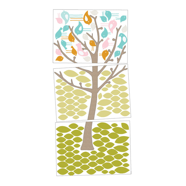 Wall Decals - 'Tweets in Tree' - Living Textiles Co.