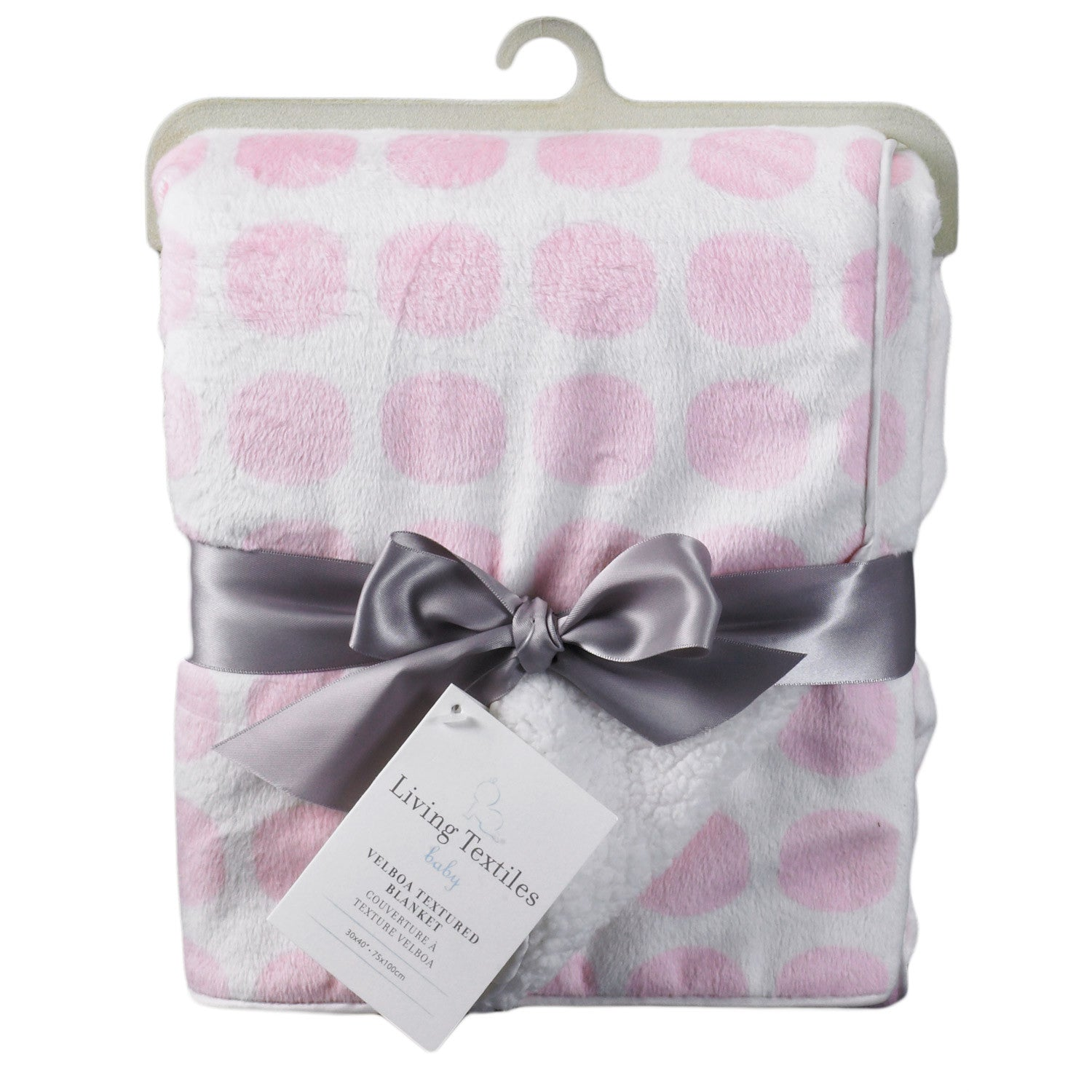 Velboa Blanket - Pink Mod Dot - Living Textiles Co.