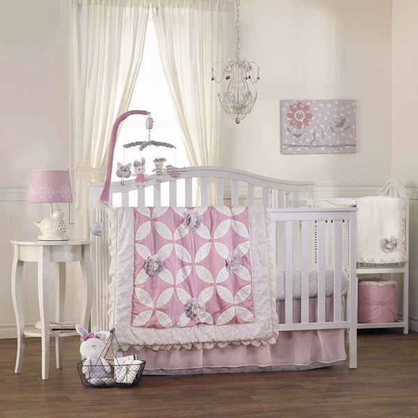 6-piece Crib Set - Violet - Living Textiles Co.