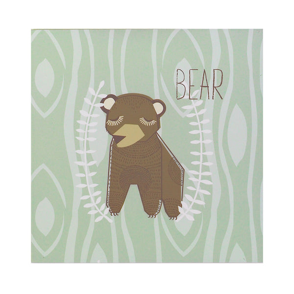 Bear Wall Plaque - Living Textiles Co.