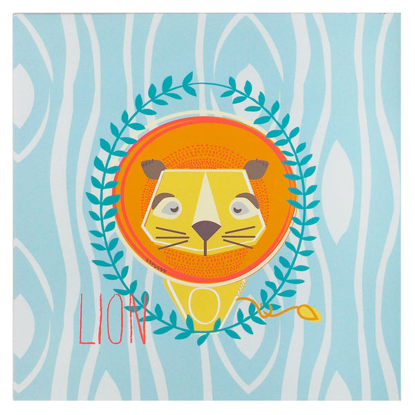 Lion Wall Plaque - Living Textiles Co.