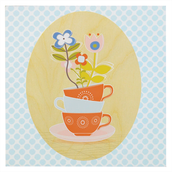 Teacup Wall Plaque - Living Textiles Co.
