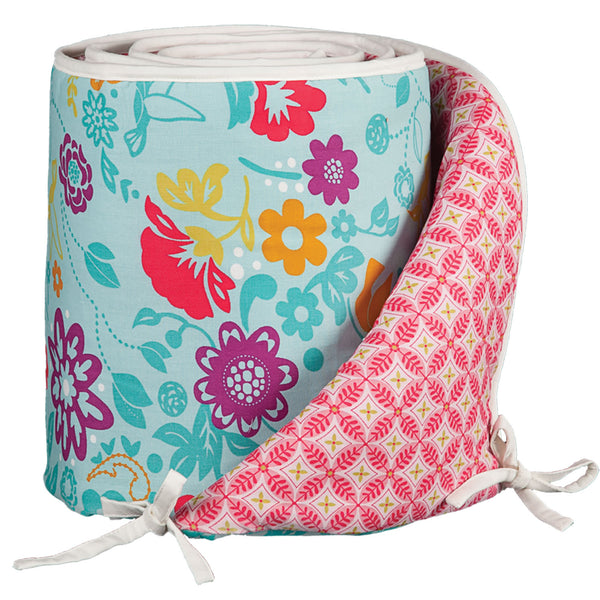 Bumper - Whimsy Multi/Tigerlily Fuchsia - Living Textiles Co.