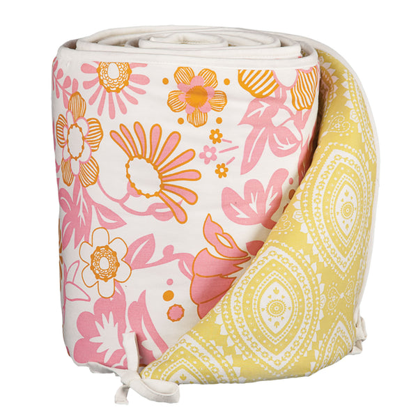 Bumper - Whimsy Pink/Damask - Living Textiles Co.