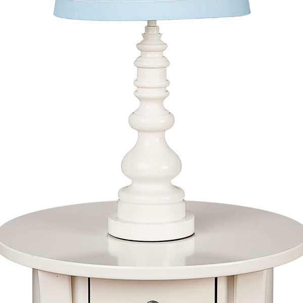 Lamp Base- White Spindle - Living Textiles Co.