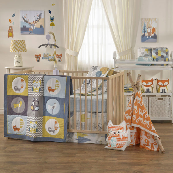 4-piece Crib Set - Woods - Living Textiles Co.