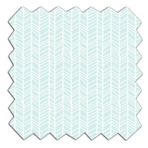 Fabric - Aqua Herringbone - Living Textiles Co.