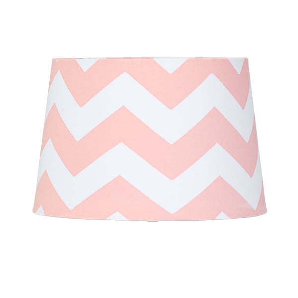 Lamp Shade - Pink Zig Zag - Living Textiles Co.