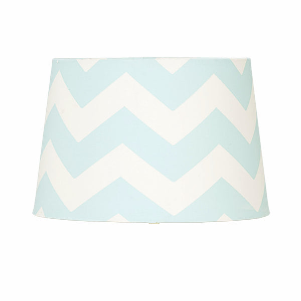 Lamp Shade - Aqua Zig Zag - Living Textiles Co.