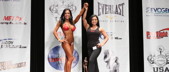Stacey Alexander competing in fitness competition