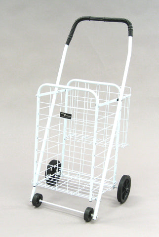 White Narita™ Mini Plus Shopping Cart - Carts On The Go