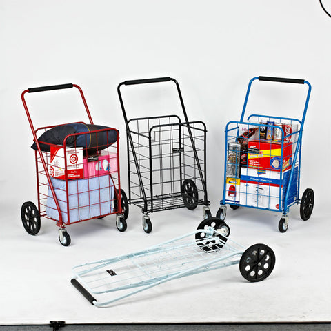Narita™ Jumbo Swiveling Shopping Cart - Carts On The Go