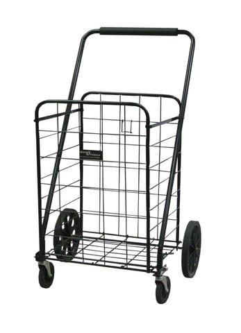 Black Narita™ Jumbo Swiveling Shopping Cart - Carts On The Go