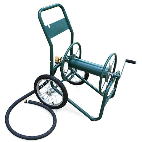 Two Wheel Industrial Hose Reel Cart - 200ft Capacity