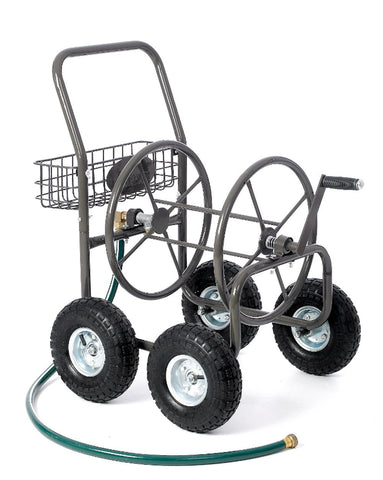 Four Wheel Hose Reel Cart - 250ft Capacity - Carts On The Go