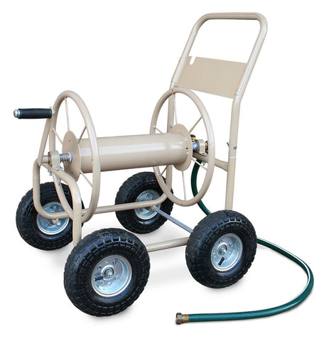 Four Wheel Industrial Hose Reel Cart - Carts On The Go