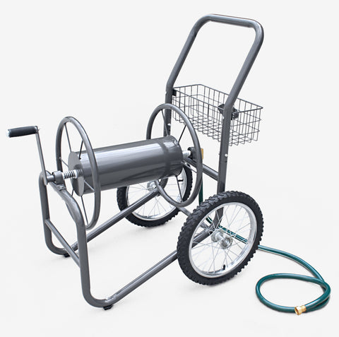 Two Wheel Industrial Hose Reel Cart - 300ft Capacity - Carts On The Go