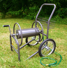 Two Wheel Industrial Hose Reel Cart - 300ft Capacity