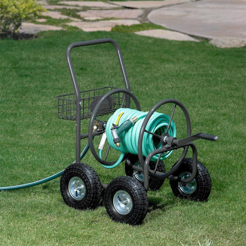 250' Hose Reel Cart w/ Four Wheels
