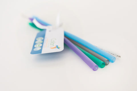 Reusable Straws - 4 pack with cleaner