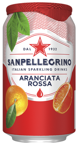 San Pellegrino Sparkling Aranciata Rossa (Blood Orange) - *4X330ml*