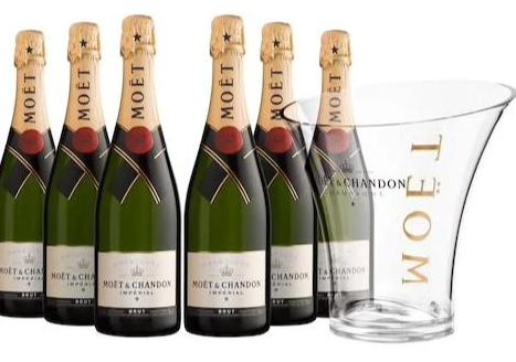 Moet & Chandon Brut Imperial NV 6pk + Ice Bucket