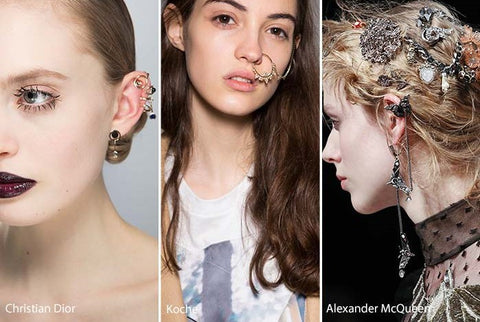 Ear cuff earrings 2017 jewelry trends