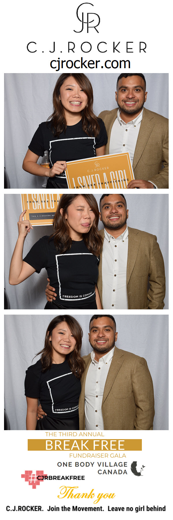 The BREAK FREE Gala Photobooth Photo