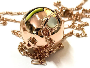 THE RESE NECKLACE LOCKET GOLD - C.J.ROCKER