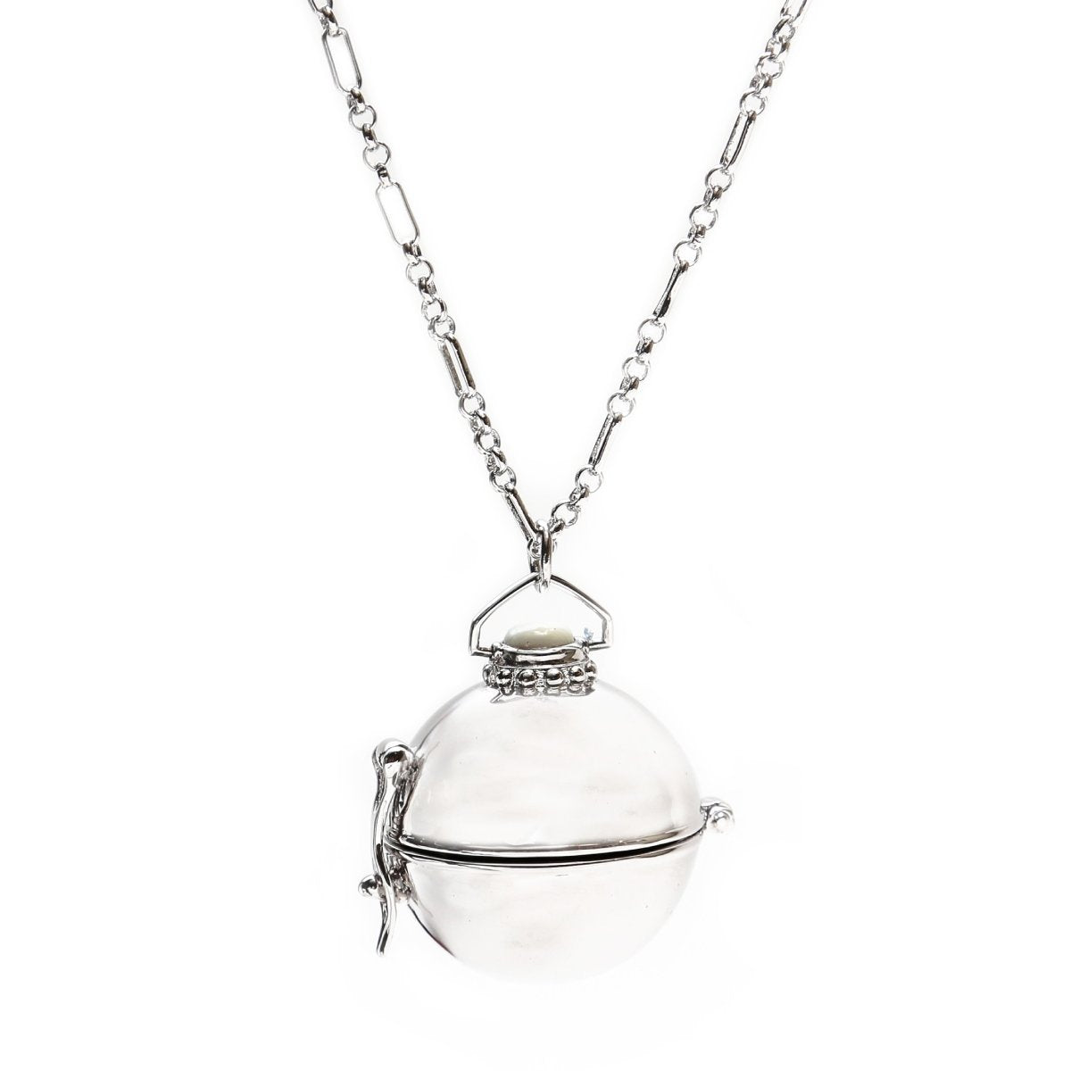 THE RESE NECKLACE LOCKET SILVER - C.J.ROCKER