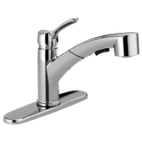 Delta 4140-DST Collins™ Single Handle Pull-Out Kitchen Faucet - Chrome