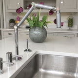 KOHLER Karbon® Articulating two-hole deck-mount kitchen sink faucet