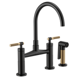 BRIZO 62543LF LITZE® BRIDGE FAUCET WITH ARC SPOUT AND KNURLED HANDLE