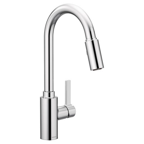 Moen 7882 Genta Chrome One-Handle High Arc Kitchen Faucet