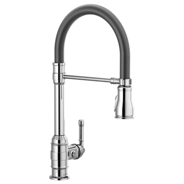 DELTA 9690-DST Single Handle Pull-Down Kitchen Faucet With Spring Spout