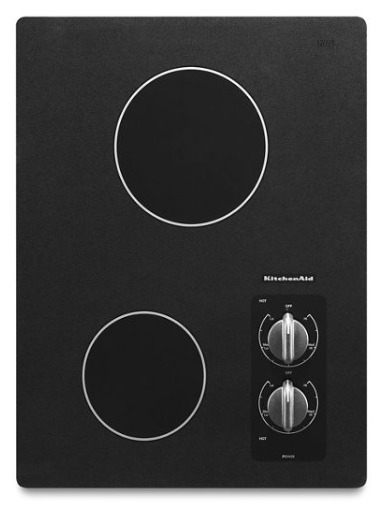 "KITCHENAID KECC056RBL 15"" Electric Cooktop with 2 Radiant Elements"