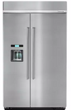 KITCHENAID KBSD608ESS 48-Inch width built-in side by side refrigerator