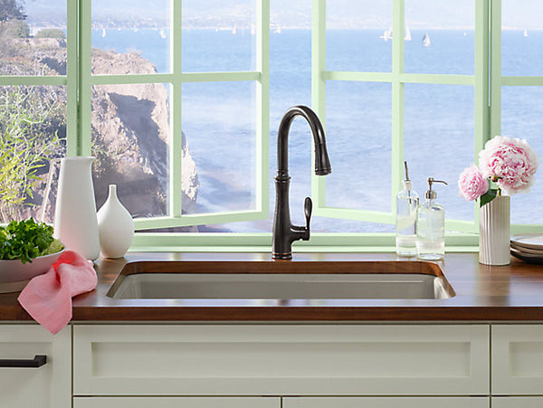 KOHLER K-560 Bellera® single-hole or three-hole kitchen sink faucet