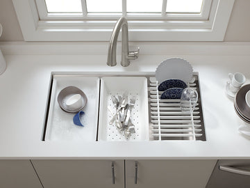 KOHLER Prolific®under-mount single bowl kitchen sink with accessories