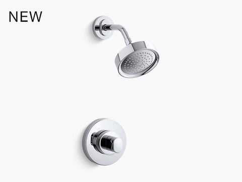 KOHLER K-TS10056-9 Oblo® Rite-Temp® shower valve trim with oval handle and 2.5 gpm showerhead