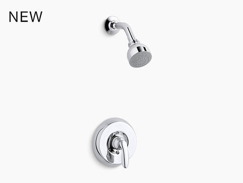 KOHLER K-TS15611-4G Coralais® Rite-Temp® shower valve trim with lever handle and 1.75 gpm showerhead